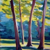 © Christine Eckerfield-Trees with Sunlight and Shadows II, Alde